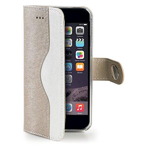 Celly Custodia a Portafoglio Onda per iPhone 6 Plus, Rosa Oro