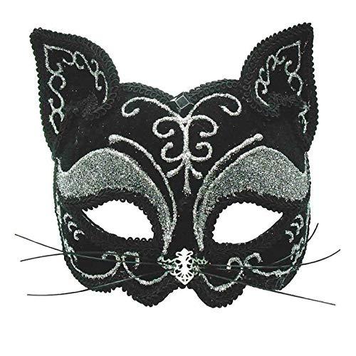 Bristol Novelty EM365 Katze Augenmaske, Schwarz, Einheitsgröße - Maskerade Maske Katze Schwarze