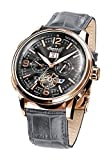 Ingersoll Herren-Armbanduhr Connecticut Chronograph Automatik Leder IN1222RGGY