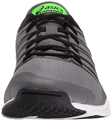 Asics Met-Conviction Synthétique Chaussure de Course Titanium-Green Gecko-Black
