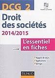 DCG 2 - Droit des sociétés 2014/2015 - L'essentiel en fiches