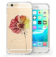 iPhone 6 6S Case, FoneExpertŽ Ultra Thin Slim Transparent Soft Gel TPU Back Case Cover For iPhone 6 6S (4.7 inch) + Screen Protector & Cloth (Colour 8)