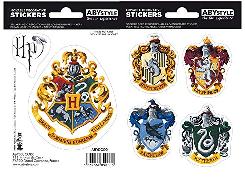 Stickers Harry Potter. Escudo y casas