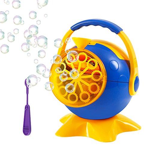 Twister.CK Bubble Machine, Bubble Blowing Machine Portatile, Forma di Calcio Creatore di Bolle Durevole per i Bambini Festa di Compleanno, Matrimoni, Giochi al Coperto e all'aperto