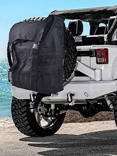 NAKELUCY Reserverad-Müll- und Ausrüstungstasche, passend für Jeep Wrangler Reserverad-Müll-Aufbewahrungstasche Müllsack, Reserverad-Müllsack mit hoher Kapazität für Jeep Wrangler