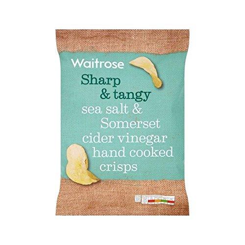 Waitrose Handcooked Sea Salt & Somerset Cider Vinegar 150g, 6 Pack