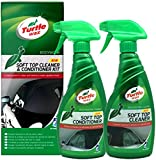 Turtle Wax, Pflegeset für flexibles Cabrioverdeck (Softtop), 500 ml Reiniger + 500 ml Softtop-Conditioner
