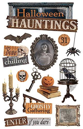 Papier House PRODUCTIONS Halloween Hauntings 3D Aufkleber, Papier, Mehrfarbig, 22.4 x 12 x 0.5 cm (12x12 Halloween Scrapbook-papier)