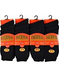 Pour homme hiver chaussettes thermiques Taille 6–11UK, homme, noir, taille