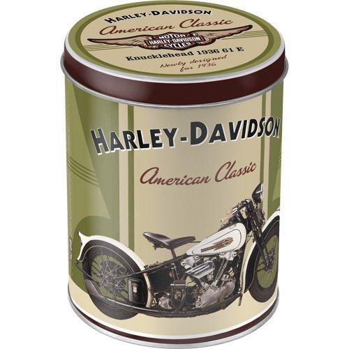 Nostalgic-Art 30502 Harley-Davidson Knucklehead, Vorratsdose Rund