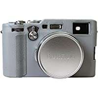 Schützende Silikon Gel Gummi weichen Kamera Fall Deckung Tasche für Fuji Fujifilm x100f Kamera grau