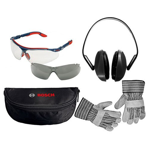 Präzise Engineered Bosch Sicherheit Gläser, Rigger Handschuhe & Gehörschutz Pack [1Paar]–W/3Jahre rescu3 Garantie