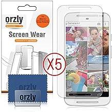 Orzly® - MotoG 2 (5 pulgadas) - 5x Protectores de Pantalla - Transparente Protectora MULTI PACK para MOTOROLA MOTO G 2 - 2014 Modello SmartPhone / Teléfono Móvil / Phablet