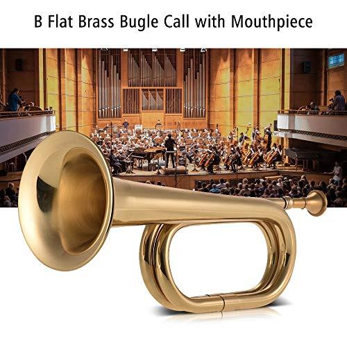 B Flat Bugle Call Trompete Messing Kavallerie Horn mit Mundstück für Schulband Kavallerie Militär Orchester -