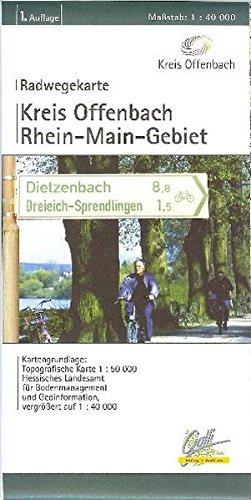 Offenbach Landkreis - Radwegekarte mit Frankfurt und Hanau: Rhein - Maingebiet. 1:40000 (Fahrradkarte)