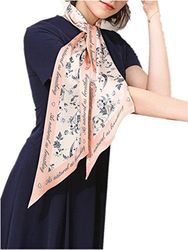 Prettystern fazzoletti da collo a maniche lunghe a 2 strati fantasia scamosciata a righe sottili donna primavera-estate skinny scarf m8