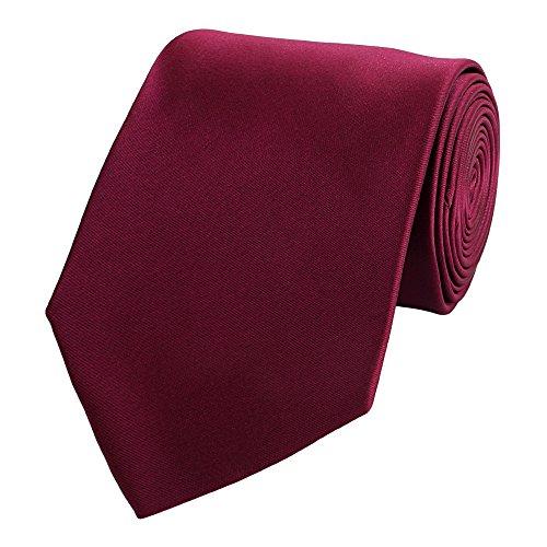 Fabio Farini Edle Krawatte, 8 cm in verschiedenen Farben, Burgunder-Rot unifarben