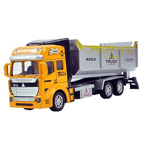 Trägheit Spielzeug Baufahrzeuge, Pawaca Friction Powered Dumper Engineering Bau Gebäude Lkw Lernspielzeug für Kinder Geschenk (7,5 Zoll) (Bau-lkw)