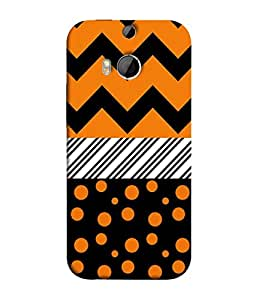 PrintVisa Designer Back Case Cover for HTC One M8 (multi colored different shapes pattern)