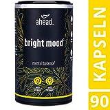 ahead® BRIGHT MOOD | Natürlicher Booster* mit Vitamin B6 für Stimmung, Wohlbefinden und Nervensystem* | L-Tryptophan, 5-HTP, Reishi, B12 | | 90 vegane Kapseln