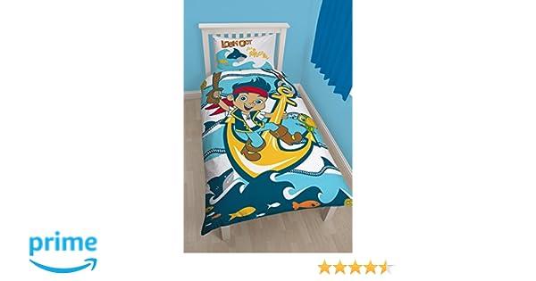 Jake et Les Pirates du Pays Imaginaire Requins Panneau Simple Housse de Couette et taie doreiller Set