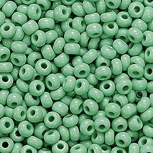 Gütermann / KnorrPrandell 3104443 - Cuentas de la India Opaca de Color Verde de 2,5 mm, 17 g / Puede Importado de Alemania