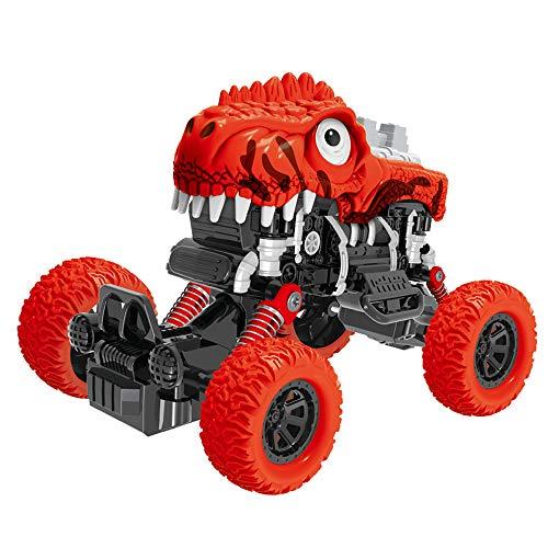 TIREOW Trägheit Allradantrieb Geländewagen Simulation Modell Spielzeug Baby Auto Modell Jurassic Park Dinosaurier LKW für Jungen (Rot) (Jurassic Park-lkw)