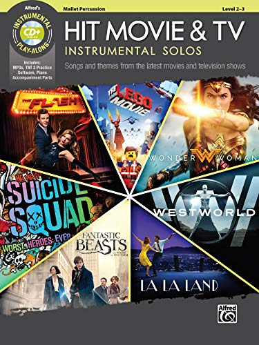 Hit Movie & TV Instrumental Solos: Songs and Themes from the Latest Movies and Television Shows (Mallet Percussion), Book & CD