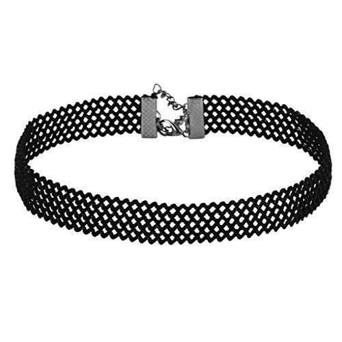 gnzoe-women-choker-chain-adjutable-collar-hole-gitter-choker-for-girls-black-305cm