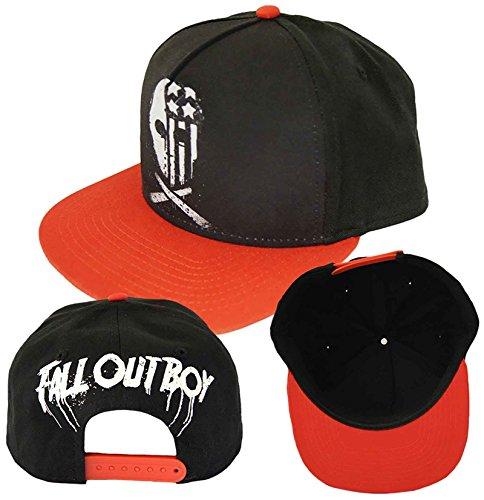 Fall Out Boy baseball Cap USA Skull band logo Nue offiziell Schwarz Snapback Fall Out Boy-cap