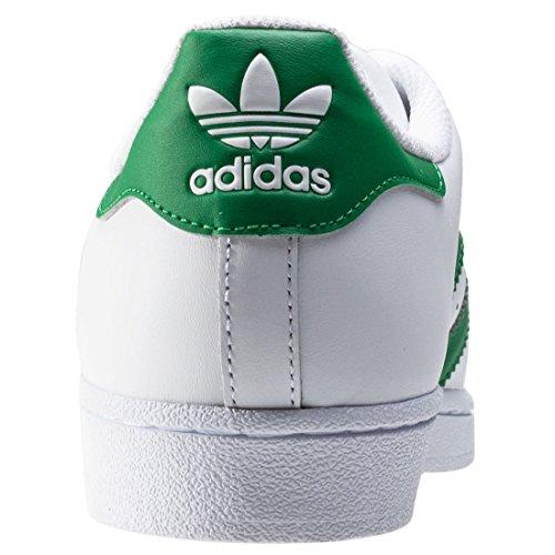 adidas Herren Superstar Sneakers weiß / grün