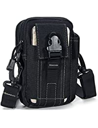 DOHOT Tactical Molle EDC Pouch Utility Gadget Belt Waist Bag With Strap & Cell Phone Holster For Sports Hiking...
