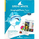 Great White(R) Matte Coated Imaging & Photo Paper, 8 1/2in. x 11in., 37 Lb., 92 Brightness, Pack Of 100 Sheets by Light-Beams Publishing (Consignment)