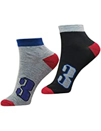 NeskaModa Men's Cotton Multicolor 2 Pair Ankle Length Socks