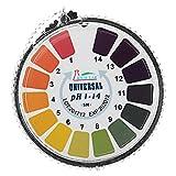 EsportsMJJ Universal Ph Test Strips Roll Vollsortiment 1-14 Indikatorpapier Tester Spender Farbkarte 5M/16.4 Ft