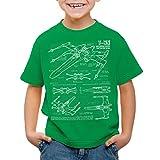 style3 X-Wing Kinder T-Shirt blaupause t-65, Farbe:GrünGröße:104