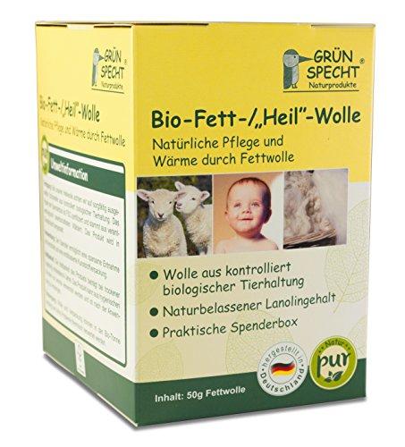 "Preisvergleich Produktbild GRÜNSPECHT Bio-Fett-Wolle ""Natur Pur"", 50gr"