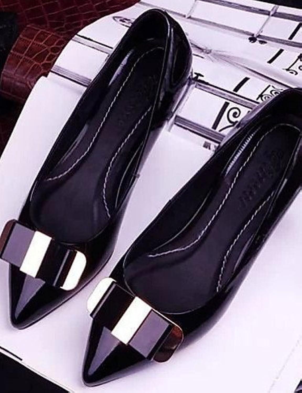 ZQ YYZ Zapatos de mujer - Tac¨®n Plano - Puntiagudos - Planos - Casual - Semicuero - Negro / Rosa , pink-us8 /...