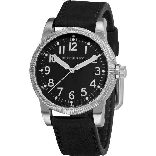 Burberry Men's BU7805 Military Black Dial luminous Hands Watch