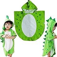 Albornoz toalla de baño para niños, con capucha y diseño de dinosaurio