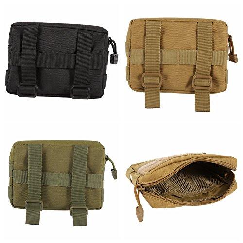 Sweetds Taktische Molle Pouch Utility Holster Holder Military Gadget Taille Tasche 600D Nylon Schwarz