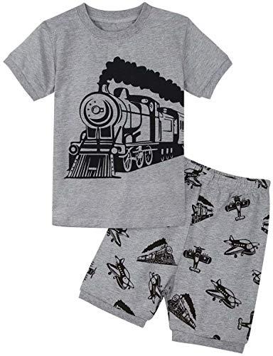en Schlafanzug Zug Zweiteiliger Kurzarm Pyjama (2 Jahre/98, Train) ()