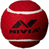 Nivia 3817 Heavy Weight Rubber Tennis Ball (Red) - Pack of 3