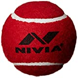 #10: Nivia 3817 Heavy Weight Rubber Tennis Ball (Red)