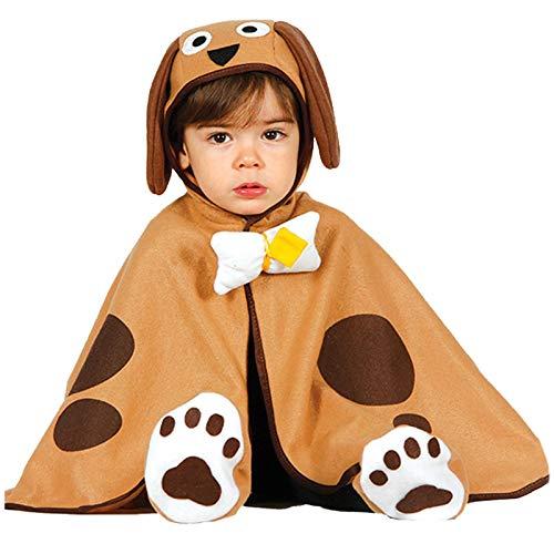 Baby Hund - Kostüm für Kinder Tier Karneval Fasching Braun Welpe süß Gr. 86/92, Größe:86/92 (Baby Kostüm Hund)