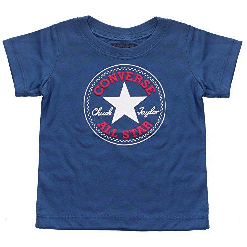 Converse All Star Baby Jungen Chuck Patch T-Shirt, Blau Jay - EU 80-86