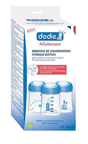 Dodie-Biberons de conservation 150ml x3 Bleu