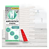 18 Anti-Rutsch-Sticker transparent + Anbringhilfe / Selbstklebende Badewanneneinlage schimmelfrei / Rutschfeste Antirutsch-Streifen Badewanne / Haftsteig
