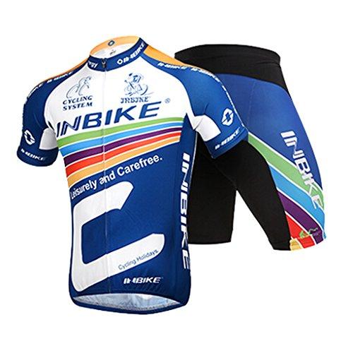inbike-set-di-maglia-estate-ciclismo-da-uomo-manica-corta-respirabile-e-pantaloncini-con-3d-cuscinet