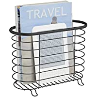 mDesign - Revistero, para diarios y revistas; para cuarto de baño, oficina, recibidor - Negro mate
